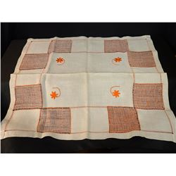 Ukraine Embroidered Tablecloth (Orange)