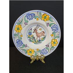 Hungary The Sandor Collection Handpainted Plate With Stag