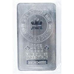 RCM Collector Bullion - .9999 Fine Pure  Canadian Rich Silver 10oz Bar Serialized