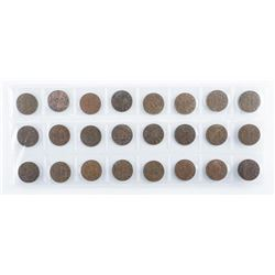 Group (24) King George 1 Cent Coins