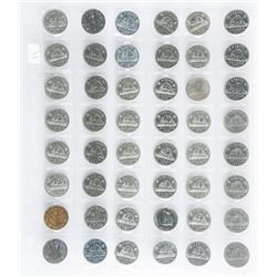 Group of (48) Canada Nickels