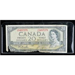 Bank of CANADA 1954 20.00 Note Devil's Face  B/C