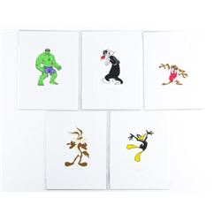 "Group of (5) 4x6"" Cartoon Litho's Mixed"