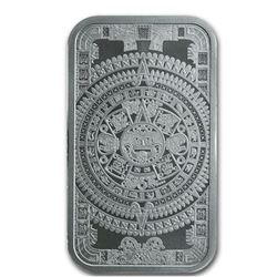 AZTEC CALENDAR .999 Fine Silver Collector Bar  1oz