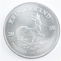 KRUGERRAND 2020 .999 Fine Silver 1oz South  Africa