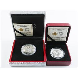 Group of (2) RCM Year of the Rat - .999 Fine  Silver $10.00 Coin and $15.00 Coin. SOLD OUT  Issues