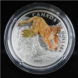 RCM 2017 - 3D Leaping Cougar 1oz $20.00 .9999  Fine Silver