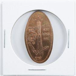 1962 Seattle World's Fair Official Medal,  Elongated