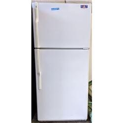 GE white refrigerator