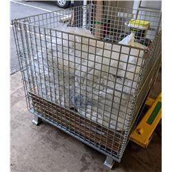 Steel bin with linen