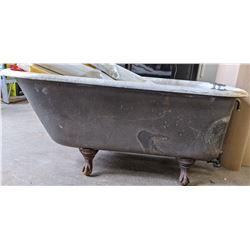 Vintage bathtub - awnings not included