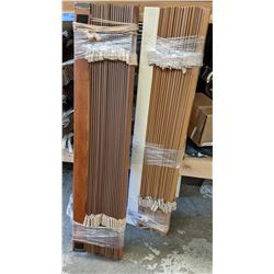 Large lot of assorted blinds