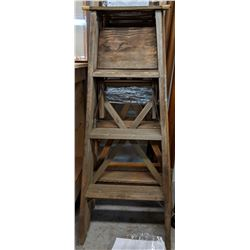 3 Wooden Step ladders