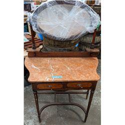 Marble top eastlake dressing table