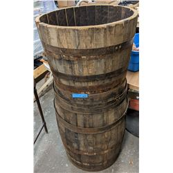 1 and a half barrel used as a prop