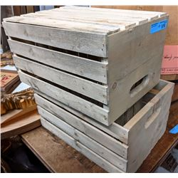 3 Wooden crates