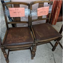 4 small dining chairs approx 3 ft high 1930s dining chairs these are six actually