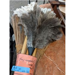 Mops brooms feather duster from the show