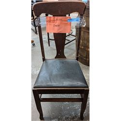 6 vintage 1920s oak dining chairs and one armchair