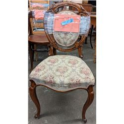 Vintage needlepoint balloon back chair