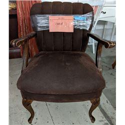 Brown vintage armchair