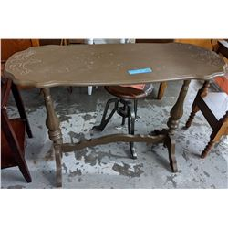 Vintage wooden painted table approx 3 ft high by 4 ft
