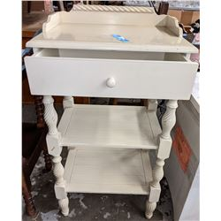 White 3 tier telephone table