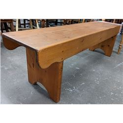 Antique pine Canadiana wood bench