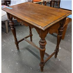 Vintage wooden table approx 3 ft by 2 ft