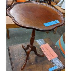 Pedal edge pedestal side table reproduction