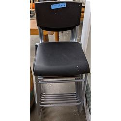 Approx 6 plastic and aluminum chairs