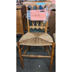 Wood and woven seat chair