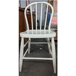 White wooden country chair