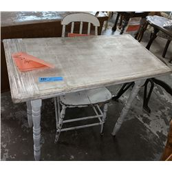 Vintage painted desk with painted chair