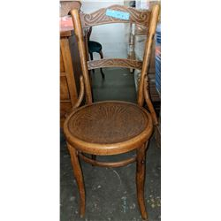 Vintage wooden chair from the show