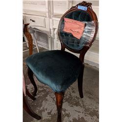 Vintage green velvet with chair
