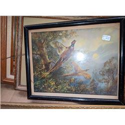 Vintage picture frames assorted sizes and misc movie props