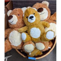 Stuffed bears in half  barrel