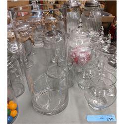 Candy jars & glasses