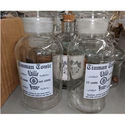 Movie prop glassware apothecary jars