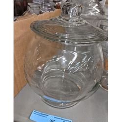 Approx 4 candy glass jars