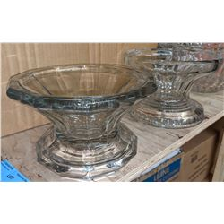 3 pieces of punch bowl glassware