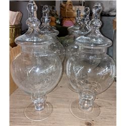 Large jars with lids 6