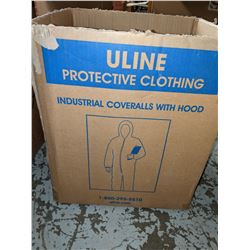 2 boxes of safety coveralls and slip-on shoe covers