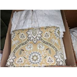 Sheets, draperies, curtains and fabric