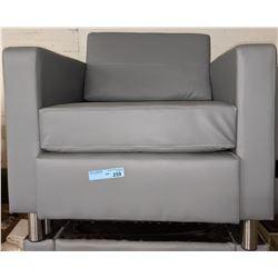 Grey designer modern club chair