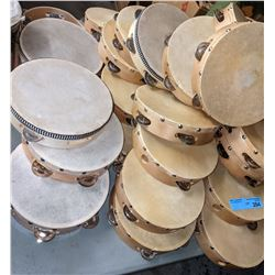 Approx 20 pieces of tambourine and wooden toys