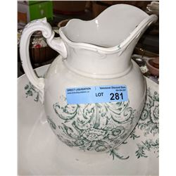 Authentic wash jug and bowl