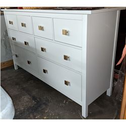 8 drawer dresser with white gloss finish