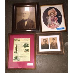 9 picture frames and 1 wooden box